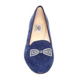 UGG Alloway Crystal Bow Leather Slipper - Size 7